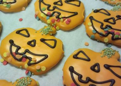 Biscotti a forma di zucca